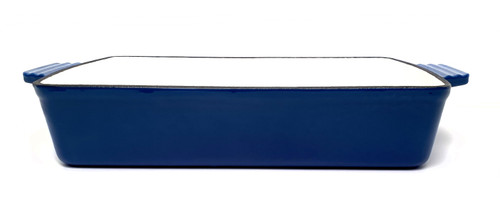 Rectangle Enamelled Cast Iron Roasting Pan - Blue