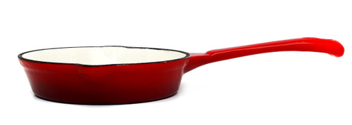 17cm Enamelled Cast Iron Frypan - Red