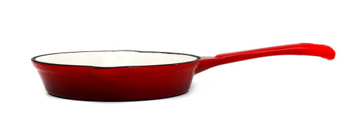 25cm Enamelled Cast Iron Frypan - Red