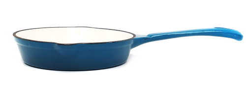 17cm Enamelled Cast Iron Frypan - Sky Blue