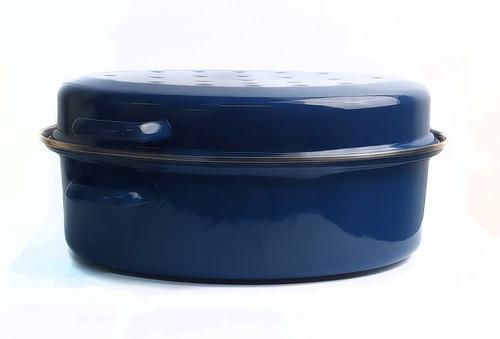 Bialetti Enamel Oval Roaster Blue.