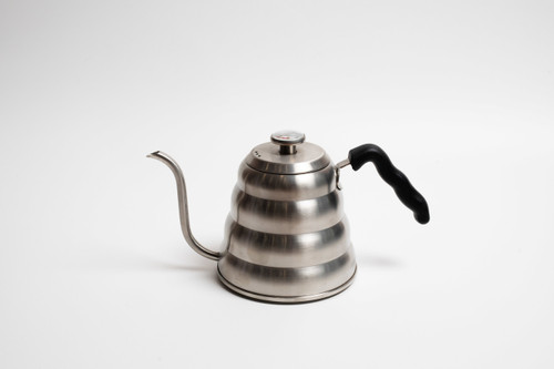 Stainless Steel 1.2L Goose neck Kettle with Thermometer