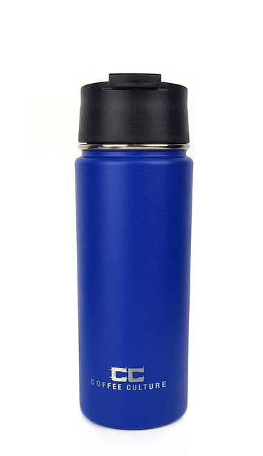 Matte Blue 500ml Travel Flask with Sipper