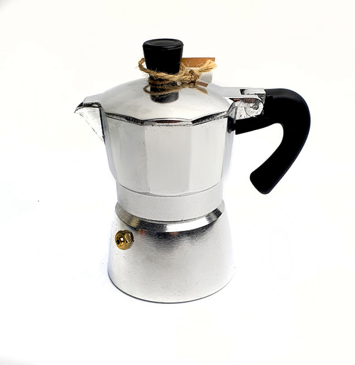 Silver Coffee Maker - 1 Cup