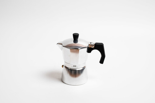 Silver Stove Top Coffee Maker - 3 Cup