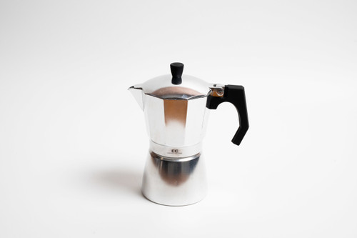 Silver Stove Top Coffee Maker - 6 Cup