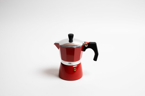 Red Stove Top Coffee Maker - 3 Cup
