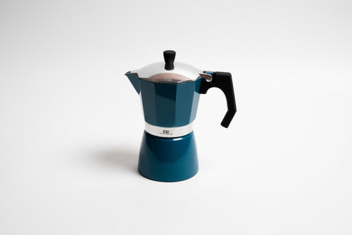 Blue Stove Top Coffee Maker - 6 Cup