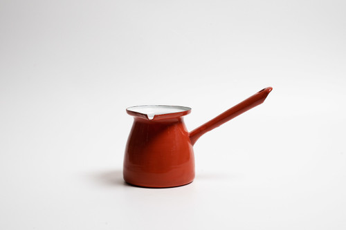 Enamel 500ml Red Turkish Coffee Pot