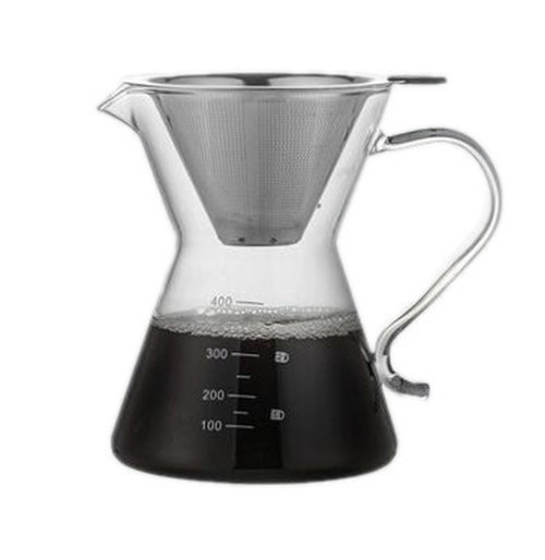Pour Over 400ml Coffee Jug with Filter.