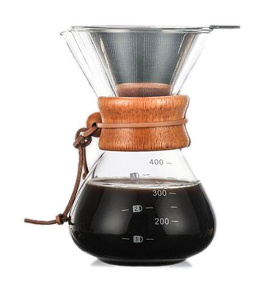 Pour Over 400ml Coffee Jug with Filter