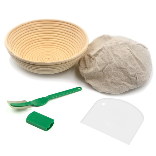 Brunswick Bakers Round 23cm Bread Banneton Set