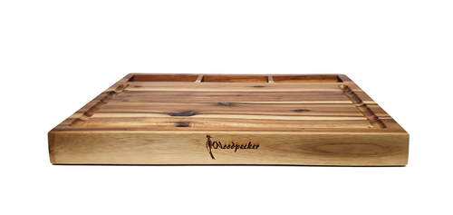 Woodpecker Rectangular Acacia Board with Built-in Bowls