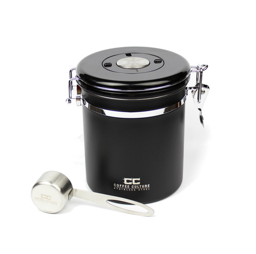 Matte Black Medium Coffee Canister