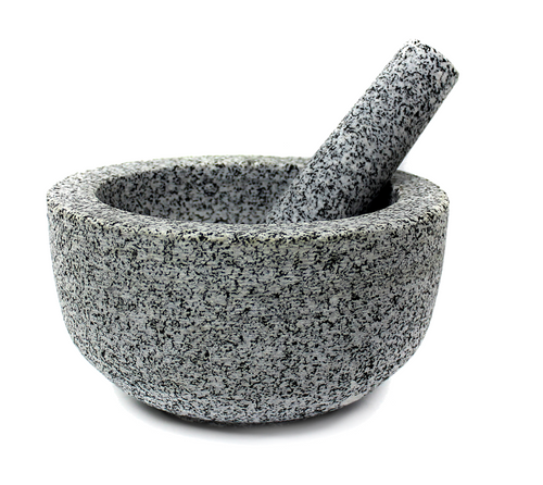Granite Mortar and Pestle - Size: 20cm (OUT OF STOCK - ETA MARCH)