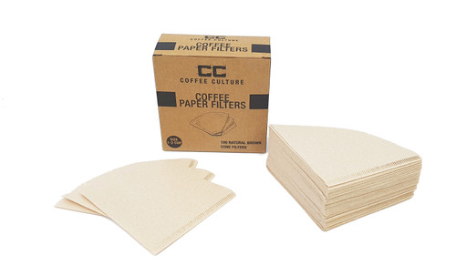Coffee Pour Over Paper Filters - Size: 1 - 2 Cup