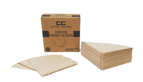 Coffee Pour Over Paper Filters - Size: 1 - 4 Cup