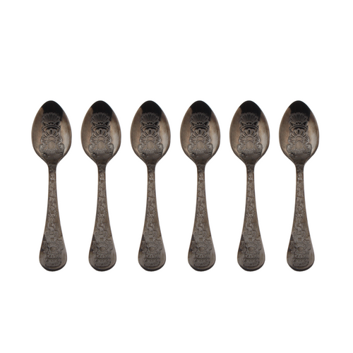 Black Coffee Spoon - Set of 6