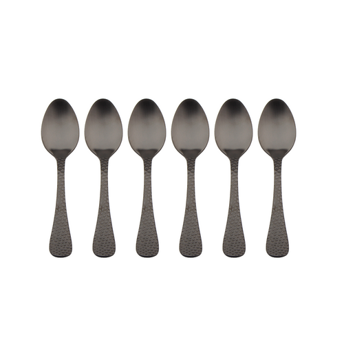 Satin Black Tea Spoon - Set of 6