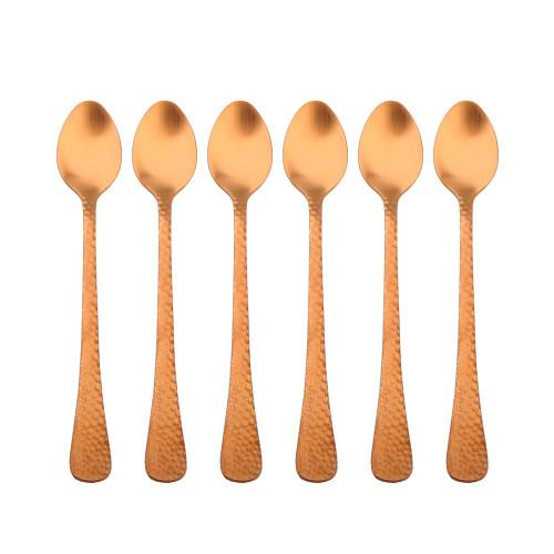 Satin Copper Parfait Spoon - Set of 6