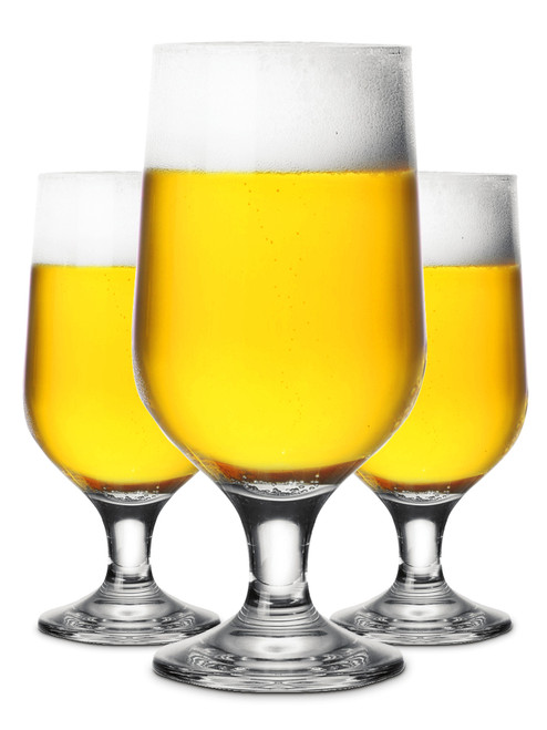 Aiden 385ml Footed Beer Glass, Set of 6 (OUT OF STOCK - ETA MARCH)