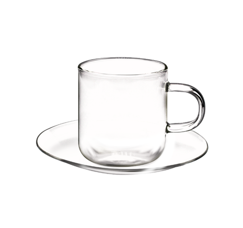 Odin 90ml Espresso Cups and Saucers, Set of 4 (OUT OF STOCK)