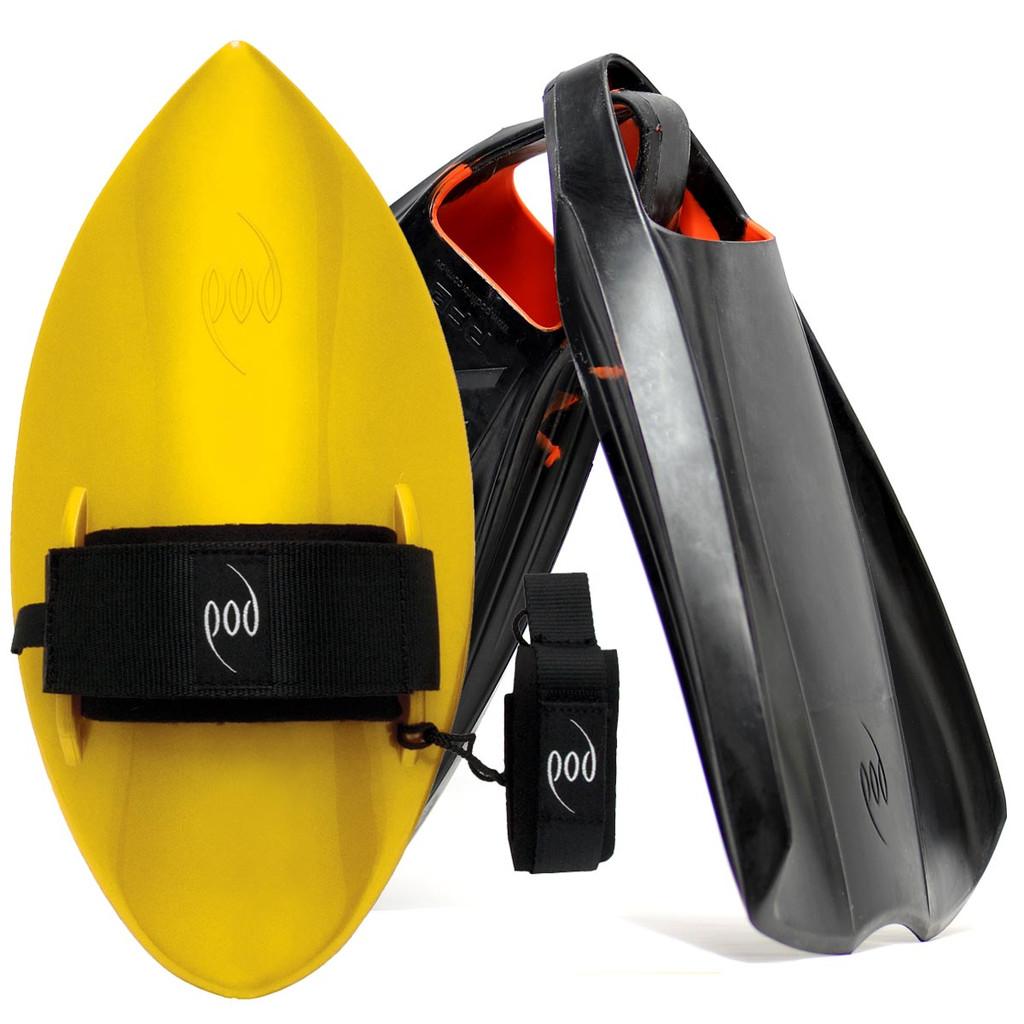 POD Fins PF2s Black/Orange - Yellow POD Handboard