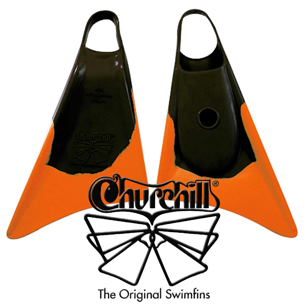 Churchill Swim Fins Limited Edition Black Orange