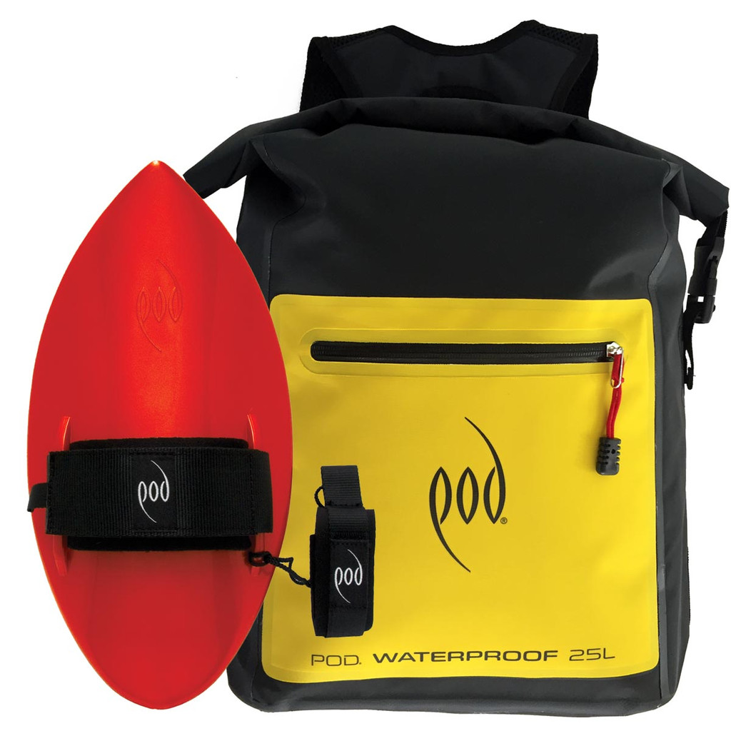 Waterproof Backpack 25 Litres - POD Bodysurfing Handboards