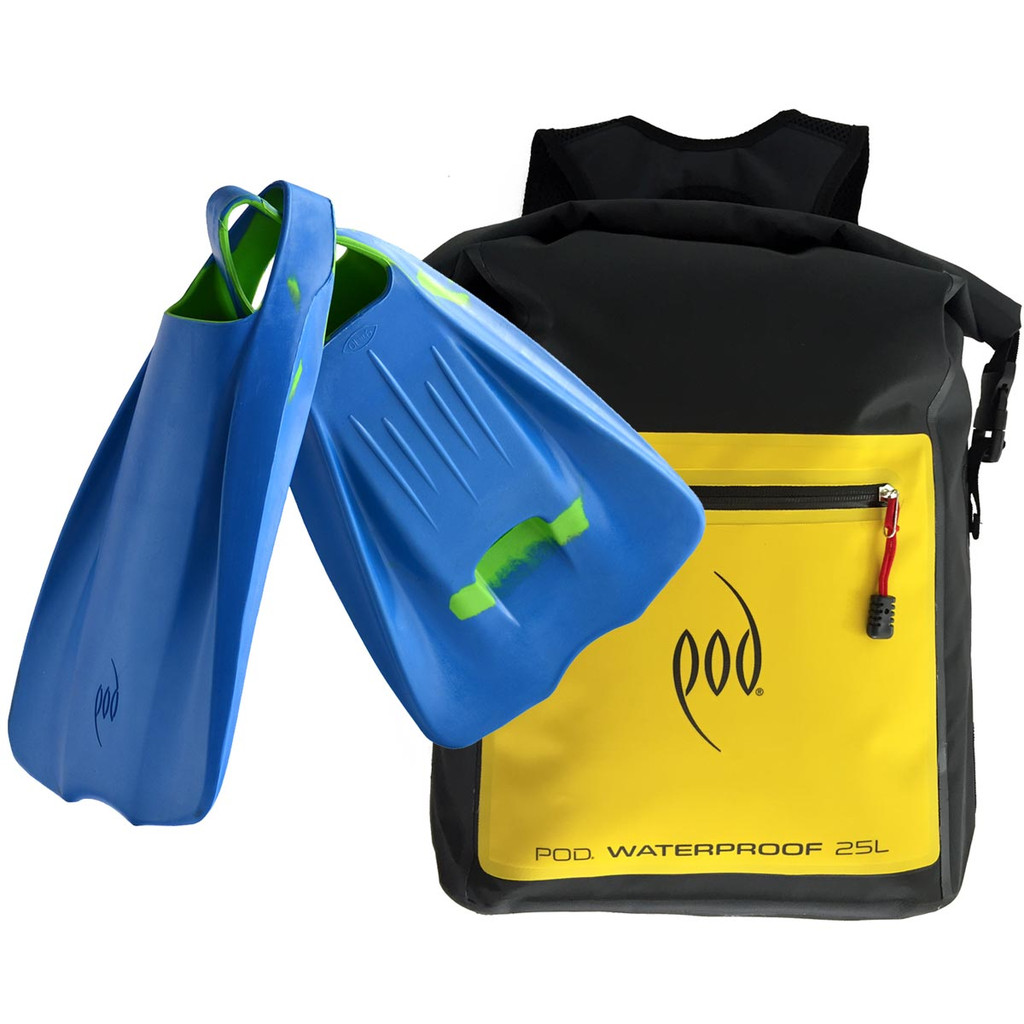 Waterproof Backpack 25 Litres - POD Fins PF1 - Swim Fins