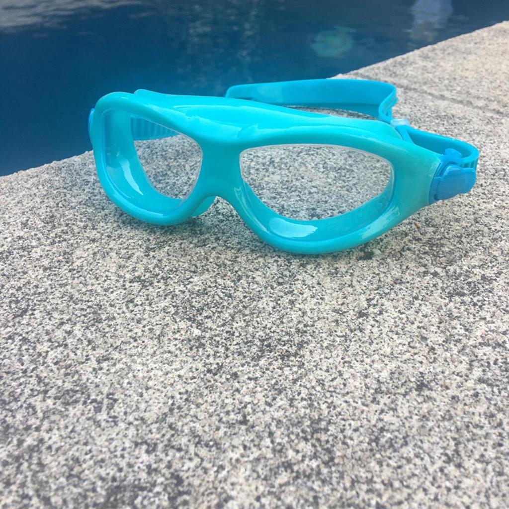 POD VISION Youth Swim Mask - Clear Lens Aqua Blue Frame