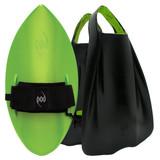 POD Fins PF1s Black/Lime - Lime POD Handboard