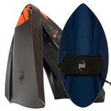 POD Fins PF3s Black/Orange - Black/Blue POD Handboard