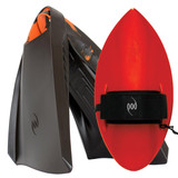 POD Fins PF3s Black/Orange - Red POD Handboard