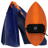 POD Fins PF3s Navy/Orange - Orange POD Handboard