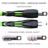 POD Connection 5ft Leg Ropes - Surfing Medium Waves