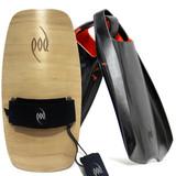 Bodysurfing Gear - Wood POD Handboard PF2 Swim Fins