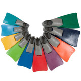Swim Fins - Long Blade Training Fins - Colour by Size
