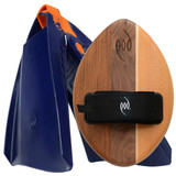 WOO Wood POD Handboard PF3 Swim Fins - Best Bodysurfing Gear