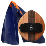 EGO Wood POD Handboard PF3 Swim Fins - Best Bodysurfing Gear