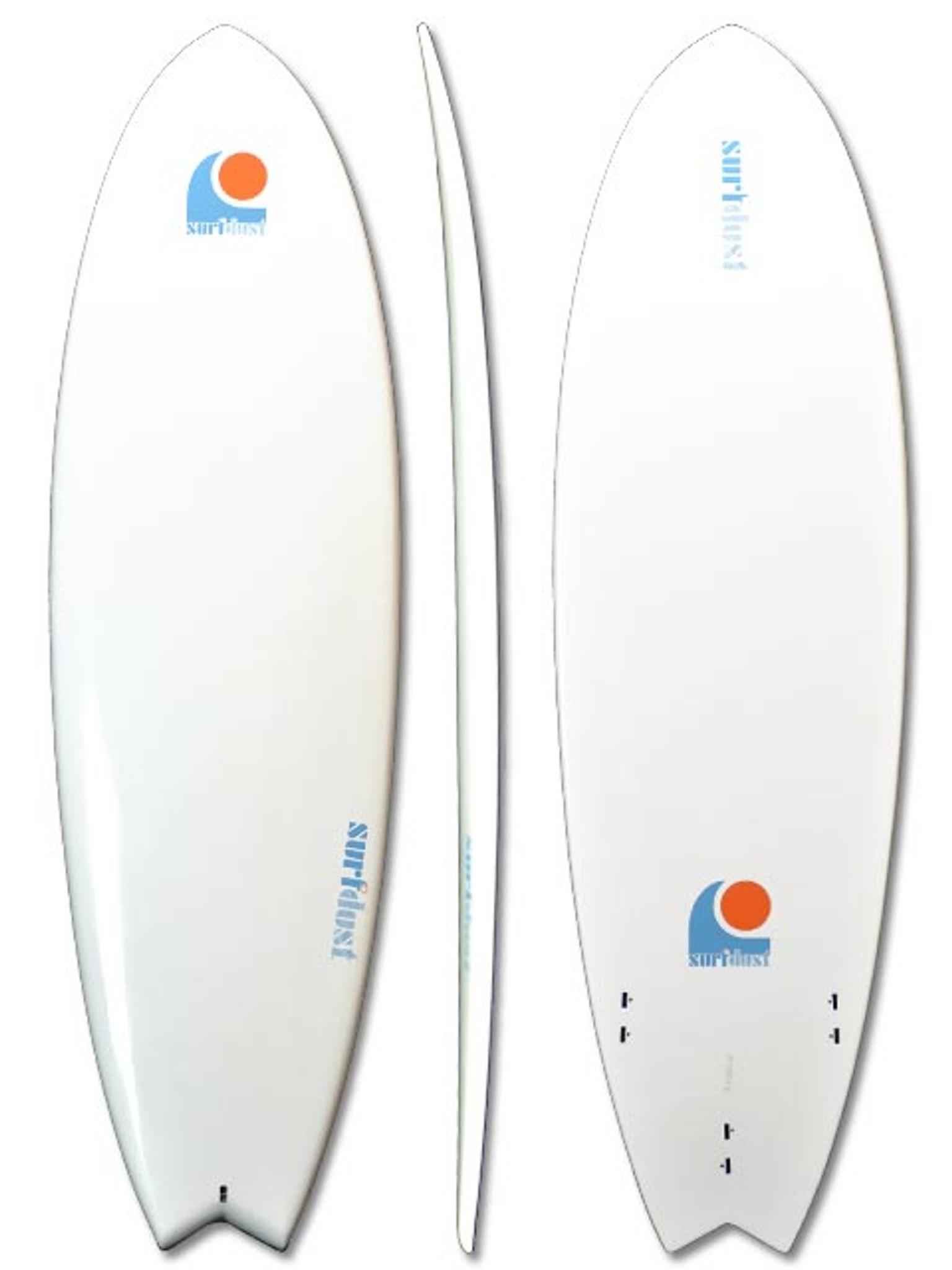 URFDUST - 6.4ft Fish - Mini-Mal Epoxy Surfboard - Surfing