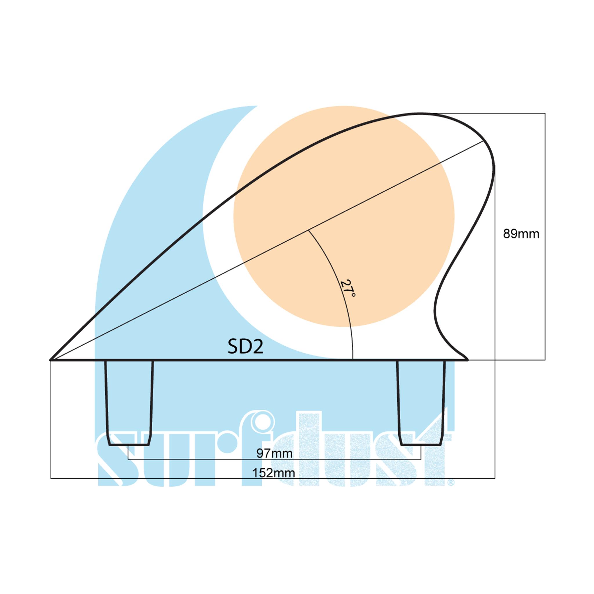 SURFDUST Fins SD2 Size Details