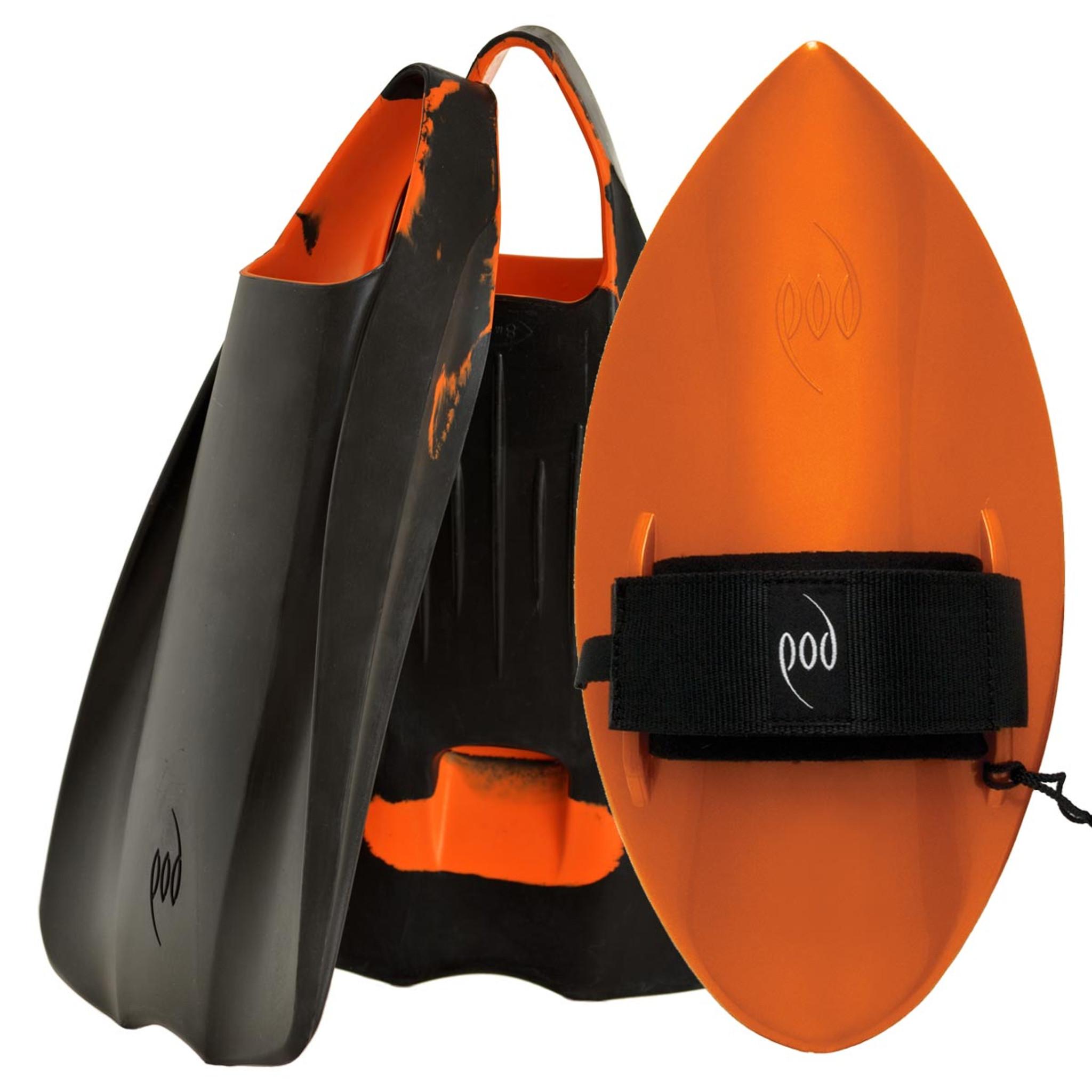 POD Fins PF1s Black/Orange - Orange POD Handboard