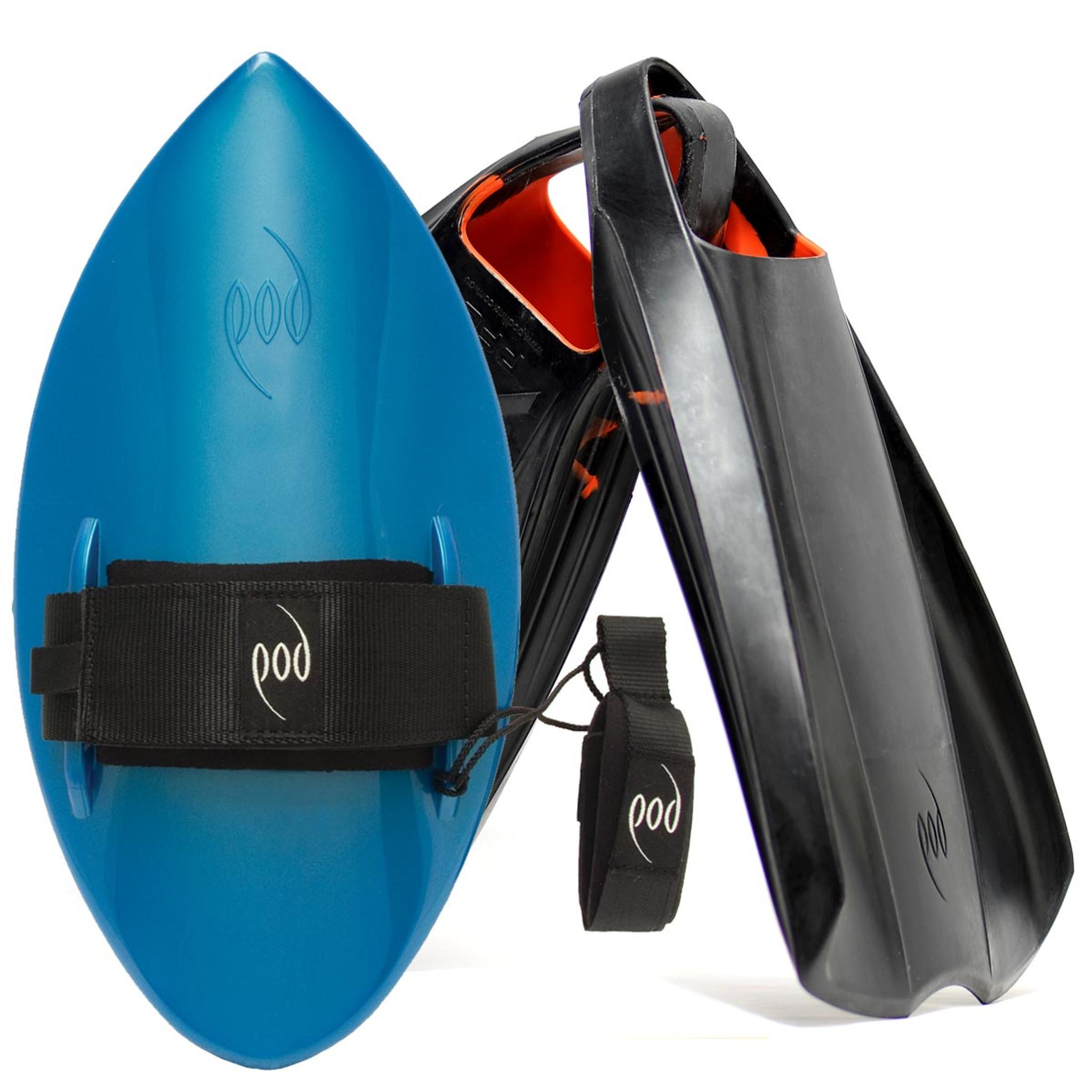 POD Fins PF2s Black/Orange - Aqua/Blue POD Handboard