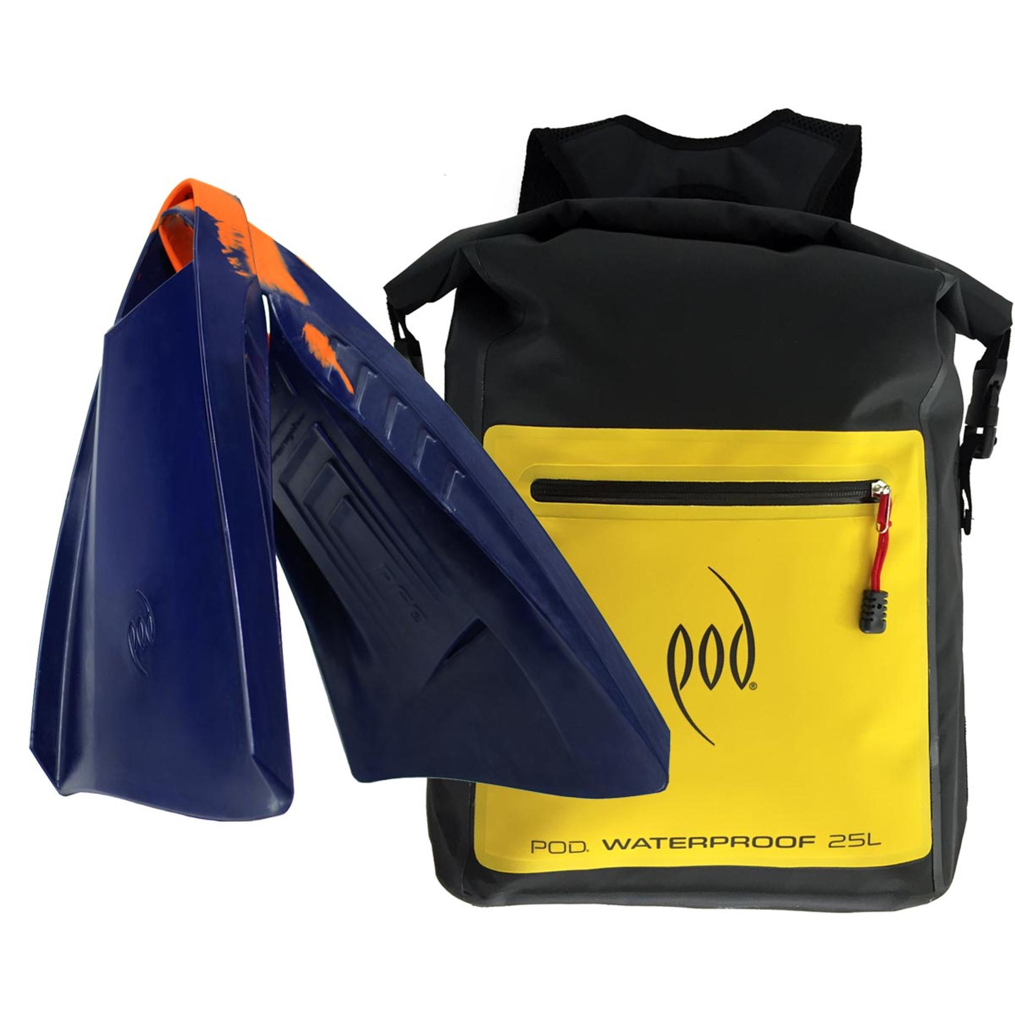 Waterproof Backpack 25 Litres - POD Fins PF3 - Swim Fins