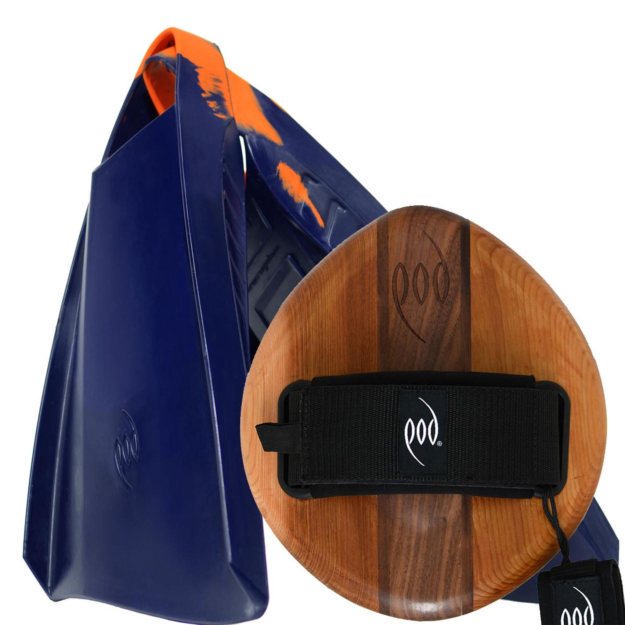 EGO Wood POD Handboard PF3 Swim Fins - Best Bodysurfing Gear