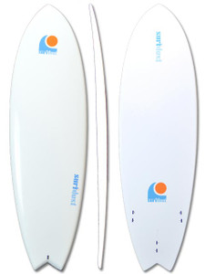 SURFDUST - 6ft Fish Tail Mini-Mal Epoxy Surfboard - Surfing