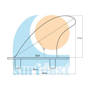 SURFDUST Softboard Fins SD4 Size Details