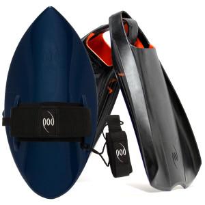 POD Fins PF2s Black/Orange - Black/Blue POD Handboard