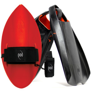 POD Fins PF2s Black/Orange - Red POD Handboard